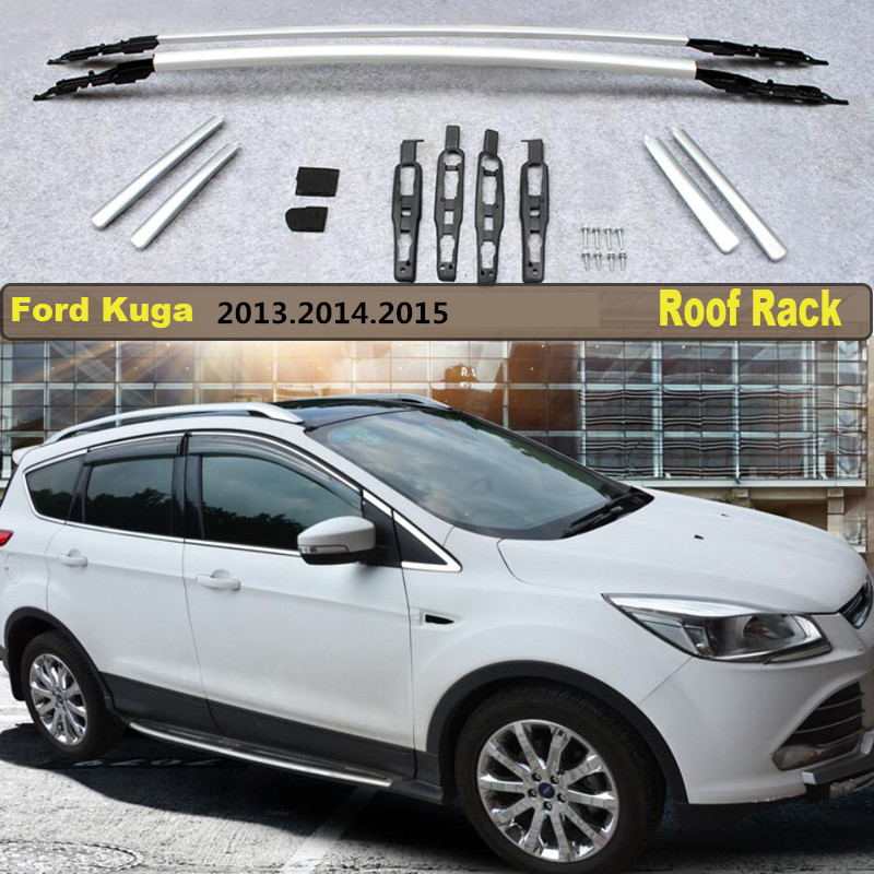 Car Roof Racks Luggage Rack For Ford Kuga 2013.2014.2015 High Quality Brand New Aluminium Auto Accessories bbq fuka 2pcs car aluminum abs silver luggage carrier top roof rack cross bars fit for compass 2017 car styling car accessories