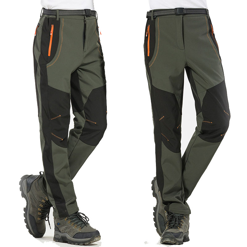 Winter Men S Fleece Outdoors Pants Warm Windstopper Trousers