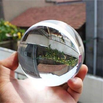 Esfera de bola curativa de cristal Artificial mágico claro de cuarzo nuevo de 40mm