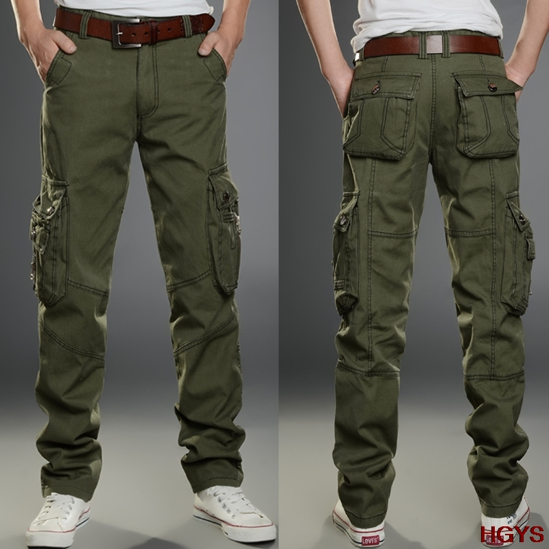 BOU 2018 men overalls leisure accented straight Mens trousers are bigger sizes