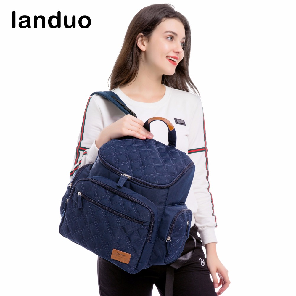 landuo LAND Diaper Bag Fashion Baby bag For Mummy Travel Backpack Nappy Bag With Urine Pad все цены
