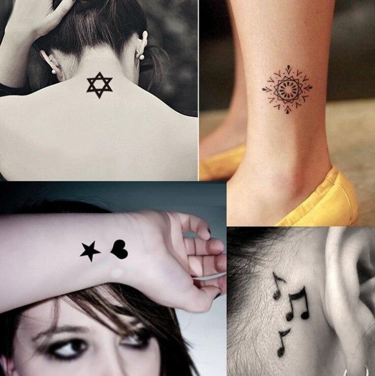 Disposable Tattoo Man Tattoo Stickers Waterproof Male Female Symbol