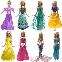 1cc38f3e80 Jeden zestaw NK lalki sukienka podobne bajka księżniczka śnieżka kopciuszek  Anna ślub sukienka dla barbie akcesoria