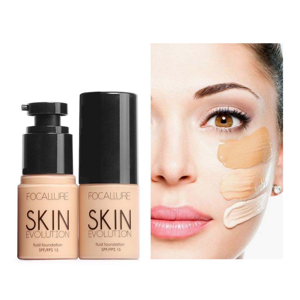 Focallure 2019 New Maquiagem Liquid Foundation Whitening Moisturizing Makeup Waterproof Concealer Foundation Cream Face image