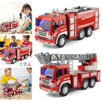 2pcs/set Toy Cars 1/16 Inertial Fire truck toy car Inertial Fire Fighting Truck Car Boys Toys for Children xmas gifts for kids