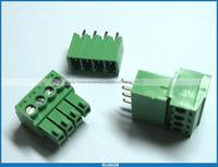 12 Pcs Screw Terminal Block Connector 3 5mm 4 Pin Way Green Pluggable Type