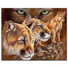"100% Full 5D Diy Diamond Painting ""Rock&King Lion"" 3D Diamond Painting Round Rhinestones Diamant Painting Embroidery Animal(China)"