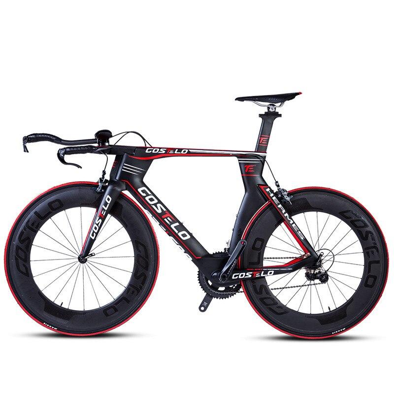 Ultraléger complet en fiber de carbone vélo de route vélo vélos vent TT vélo de route vélo Léger corps racing de vélo Aérodynamique