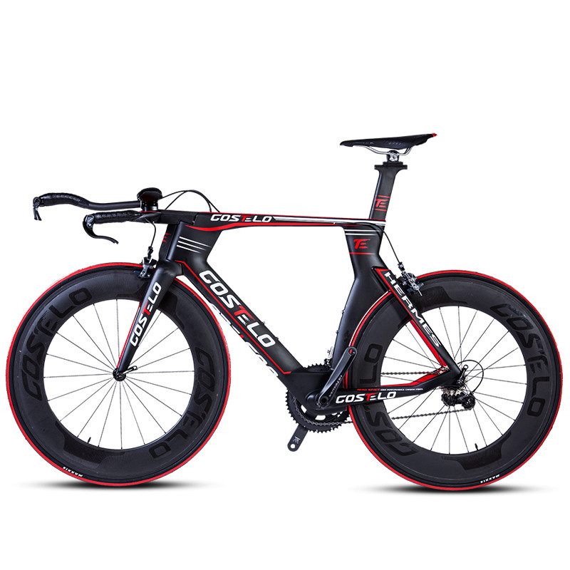 Vélo de route ultra-léger en fibre de carbone vélo de route vent TT vélo de route vélo léger de course de corps vélo aérodynamique
