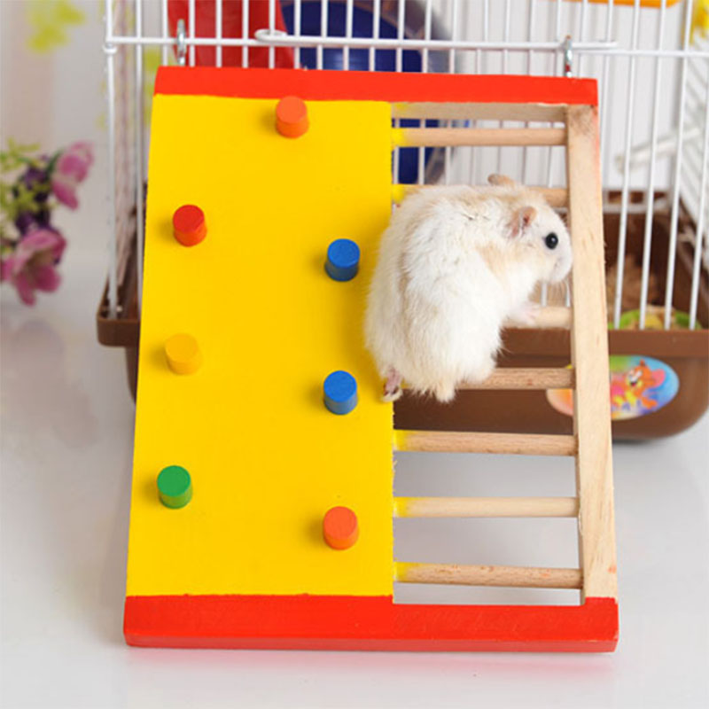 Natural Wooden Hamster Climbing Toy Hamster Ladder Small Pet Toy For Hamster Squirrel Guinea Pig Pet Rat Toys