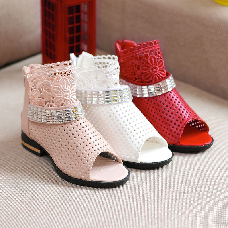 Online Shop Fashion Hot 2015 Summer Boots High Top Girls Sandals ...
