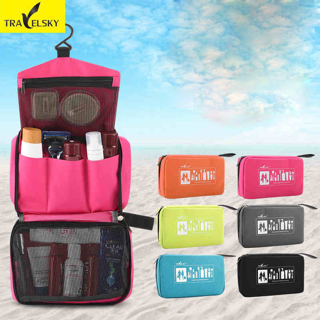 Traveling Wash Bag Cosmetic Waterproof Portable Travel Men And Women Large Capacity Storage Free