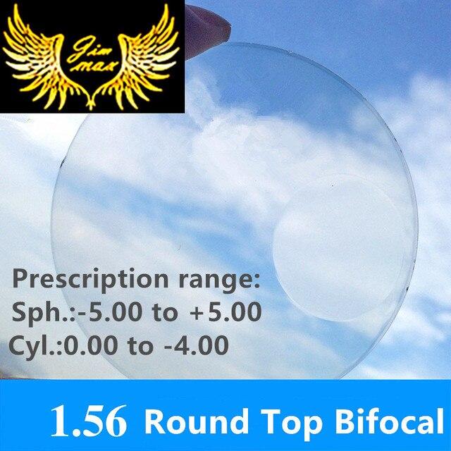 1.56 myopia presbyopia bifocal prescription CR39 round top lenses uv400 protection quality lens
