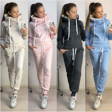 Womens Casual Sports Set, Fashionable Street Hoodie In Europe and America + Polyester Fiber Blend, Multi-color Size S-3xl