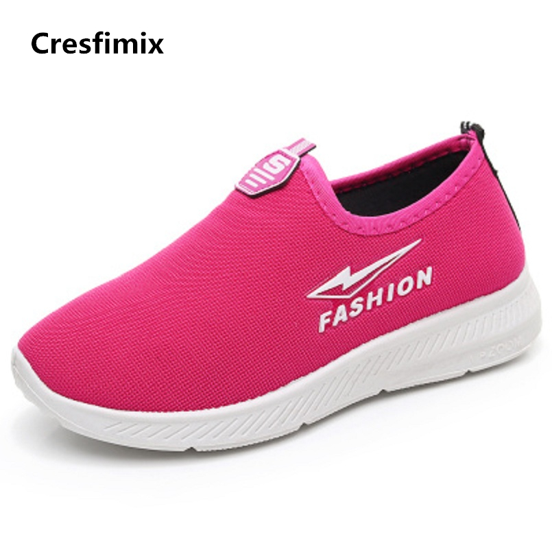 Cresfimix women plus size soft & comfortable outside flat shoes lady cute pink spring & summer breathable shoes zapatos de mujer cresfimix women cute spring