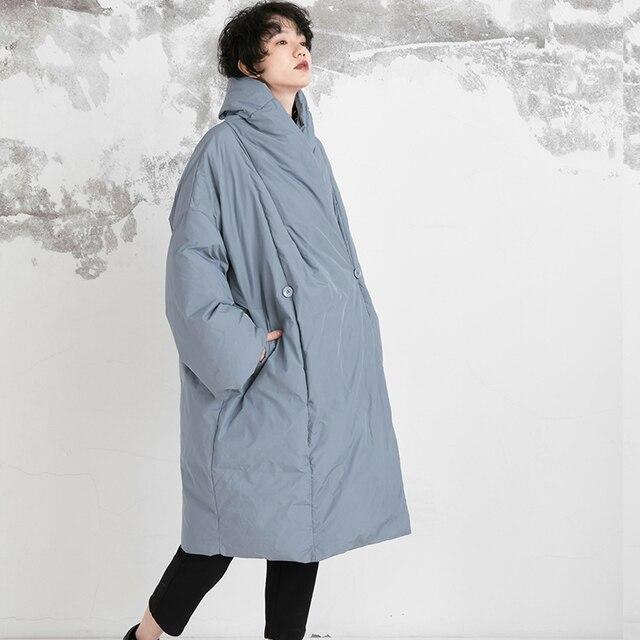 2018 nouvelle Collection surdimensionné épais chaud long hiver manteau femmes blanc canard doudoune