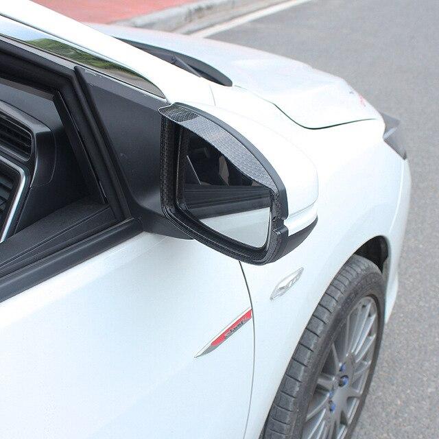 Fibre de carbone ABS pour Honda City 2015 2016 2017 2018 voiture rétroviseur bloc pluie sourcil couverture garniture accessoires voiture style 2s