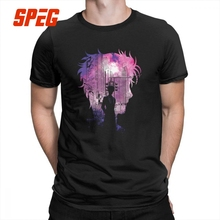 Steins Gate T-Shirts Time Travel Scientist Tee Shirts New Arrival Men's T Shirts Pure Cotton Anime Short-Sleeved Crew Neck