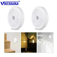 Vacamm-Lámpara LED de pared con Sensor de movimiento PIR, lámpara con batería de encendido/apagado automático para interiores, pasillo, escaleras, blanco cálido/blanco