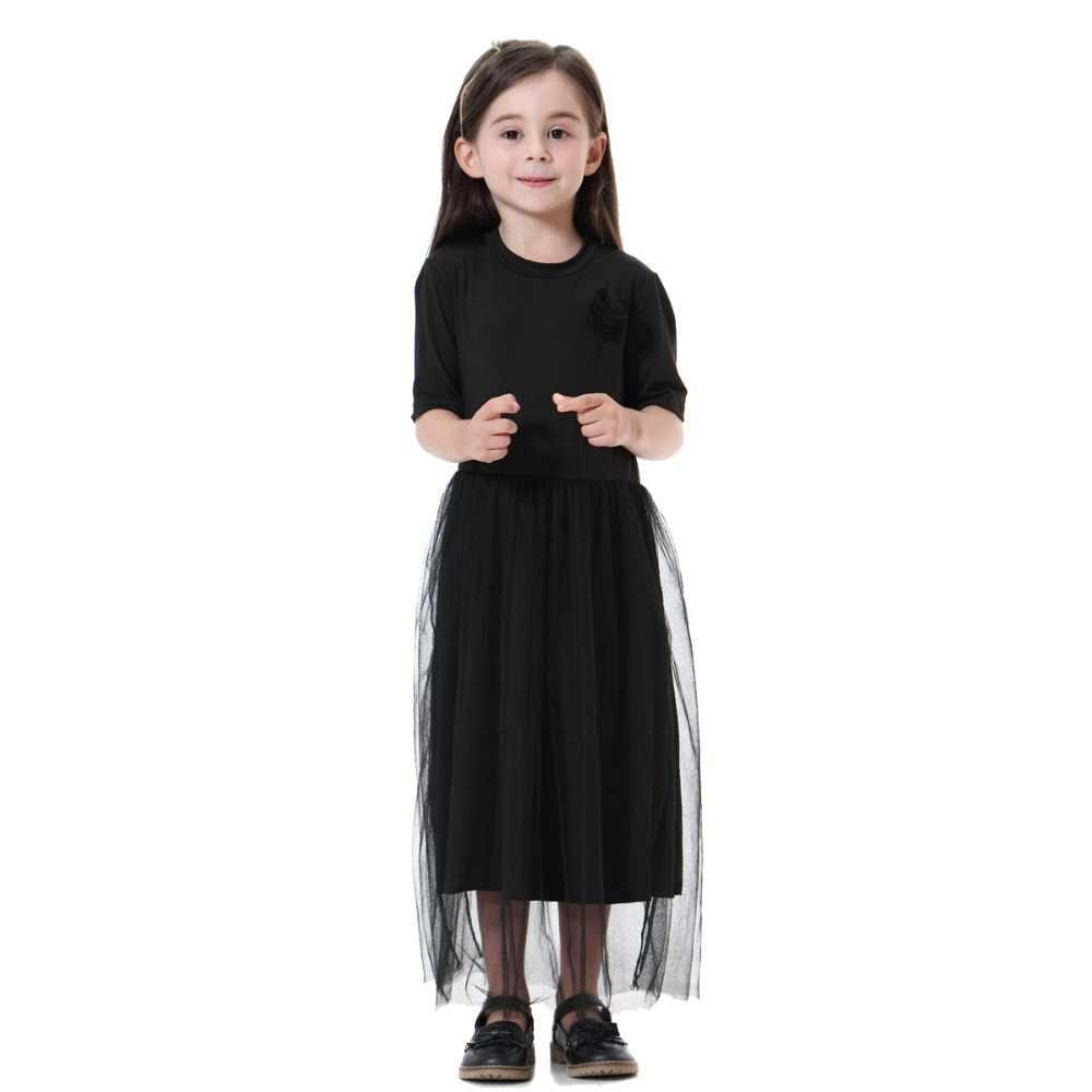 d0ae4b2cf33 ... Fashion Muslim Children Abaya Girl Maxi Dress Traditional Long Robe  Gowns Kimono Jubah Ramadan Middle East ...