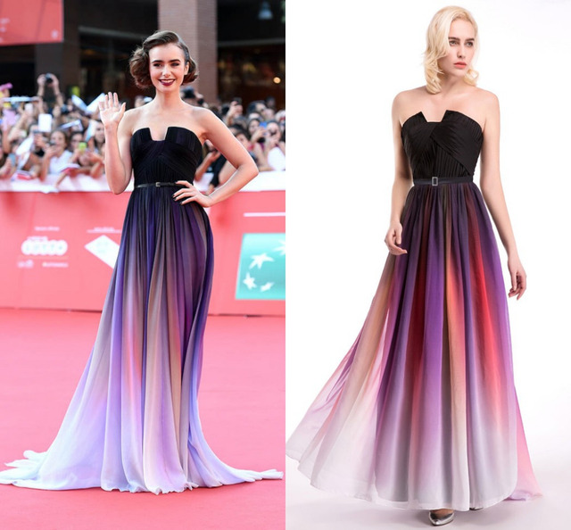 f686f23477d In Stock Ship Within 48 Hours Colorful Sexy Long A Line Chiffon Prom Dresses  Strapless With