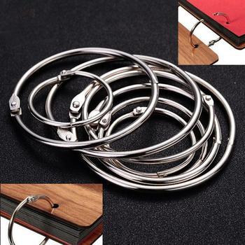 10 sztuk luźny liść książka metalowe klipsy otwierane pierścienie brelok Album pierścień księga gości segregatory DIY Craft Album podział #20 tanie i dobre opinie Hinmay CN (pochodzenie) Other Interleaf rodzaj (approx) 20 mm 25 mm 30 mm 50 mm