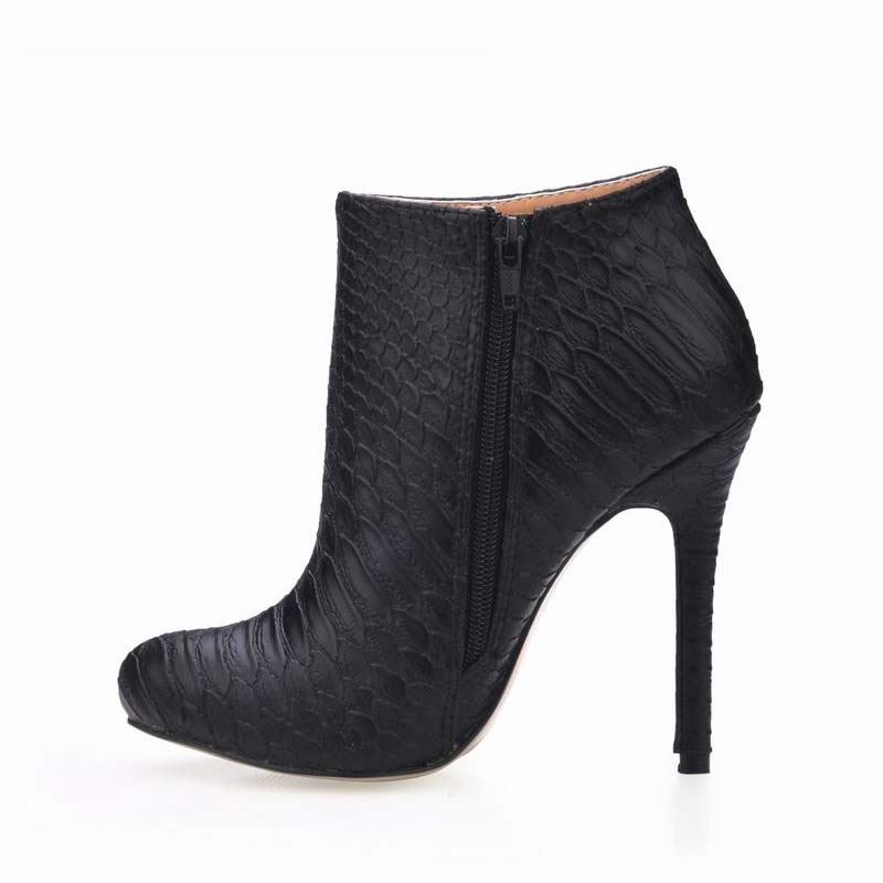 Serpentine Women Ankle Boots Shoes Woman Winter Sexy High Heels Ladies Party Club Shoes Zapatillas Botas Zapatos Mujer Big Size 2017 fashion winter platform boots knee high heels women shoes woman zapatillas botas zapatos mujer zip for ladies party shoes