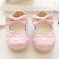 2016 Spring Autumn Baby Girls Shoes Bebe Soft Bottom PU Shoes Infant First Walkers Girls Love