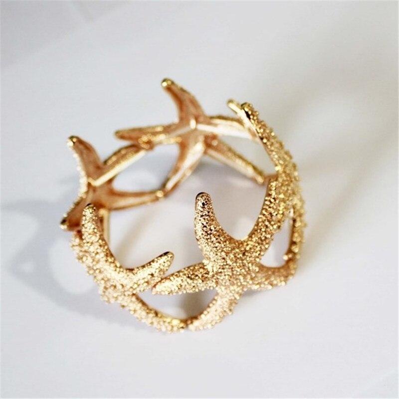 Livraison gratuite Mode jewelryFashionable femme or est simple et facile la starfish bracelet