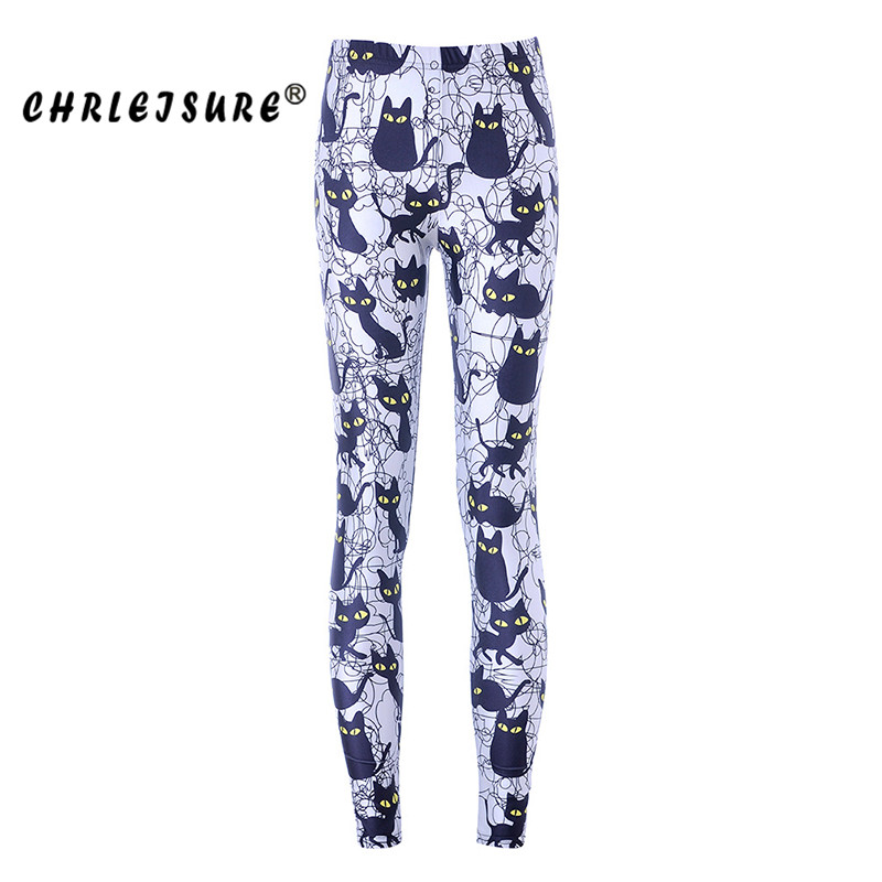 CHRLEISURE S-XL   Leggings   Women 3d Digital Print Cats Workout Leggins Trousers Big Size Female Fitness   leggings   Clothing 2017