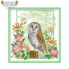 Joy Sunday DA235 14CT 11CT Stamped and Counted Home Decoration Owl Needle Art Cr