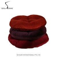 Posti a sedere sewcrane borgogna colore solido viola rosa orange velluto giapponese funzionale cuscino rotondo piano piano cuscino cuscino