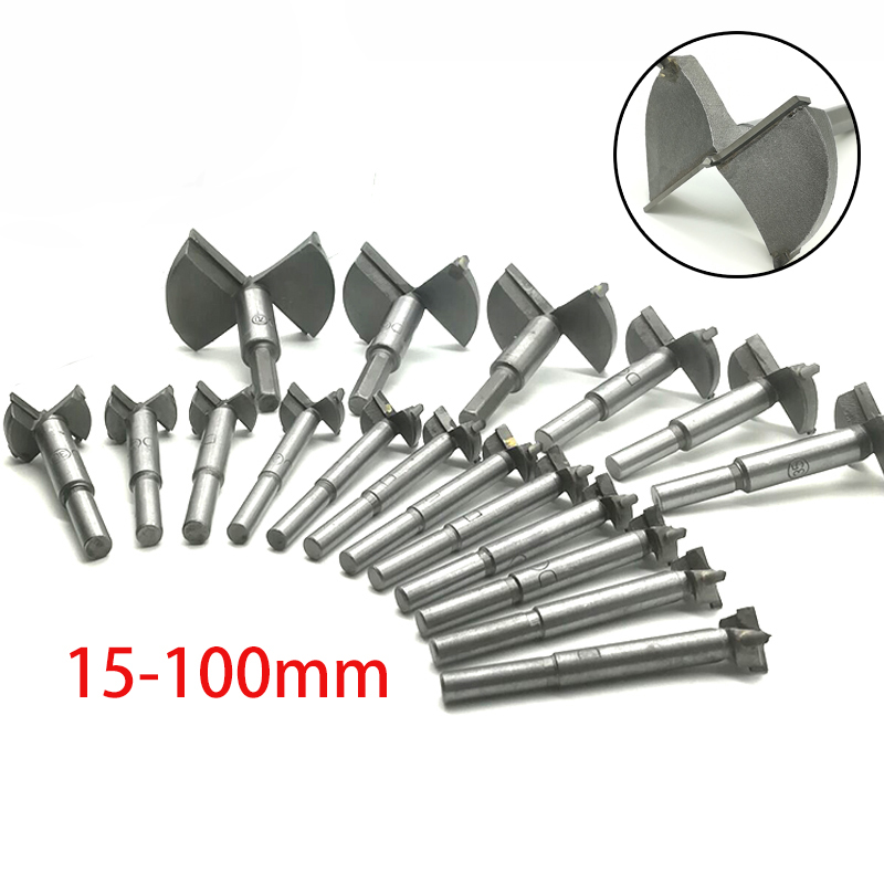 Forstner Wood Drill Bit Self Centering Hole Saw Cutter Woodworking Tools Set 15 100mm Carbon Steel Wooden Forstner Drill Bits in Drill Bits from Tools