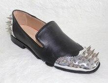 Sommer Herbst Luxus LTTL Männer Schuhe Spike Zehen & Back Loafers Beleg Auf Wohnungen Designer Männer Modemarke Party Kleid schuhe