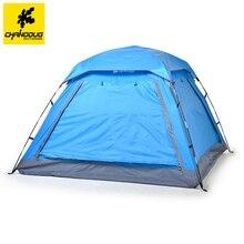 Chanodug 3-4 Personne Camping En Plein Air Tente 210*210*135 cm Automatique/Manuel Tentes 210D PU Coupe-Vent imperméable Randonnée Pique-Nique Tentes