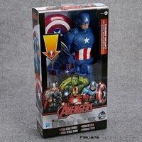 Titan Série Herói Marvel Avengers Capitão América PVC Action Figure Collectible Modelo Toy 12
