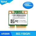Novo Atheros 9285 AR9285 AR5B95 802.11B/G/N 150 Mbps Wlan Metade Mini PCI-E Cartão Sem Fio wi-fi Para G555 G560 IBM Z580 Z585 Z380 Z385