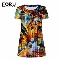 FORUDESIGNS Bodybuilding Women Dress 3d Eiffel Tower Woman Sexy Maxi Dresses For Girl Summer Beach Short