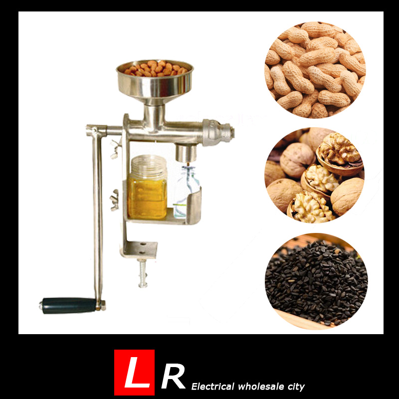1pc Manual Oil Press Peanut Nuts Seeds Oil Press/Expeller Oil Extractor Machine