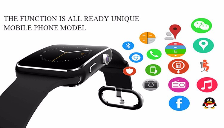Fashion Black Sport Bluetooth Smart Watch For Android IOS Phone Call SIM Card Intelligent Watches 1.54'' HD LCD OGS Touch Screen (5)
