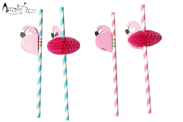 12pcs lot flamingo christmas decoration paper drinking straws christmas party suppliers penis straws - Flamingo Christmas