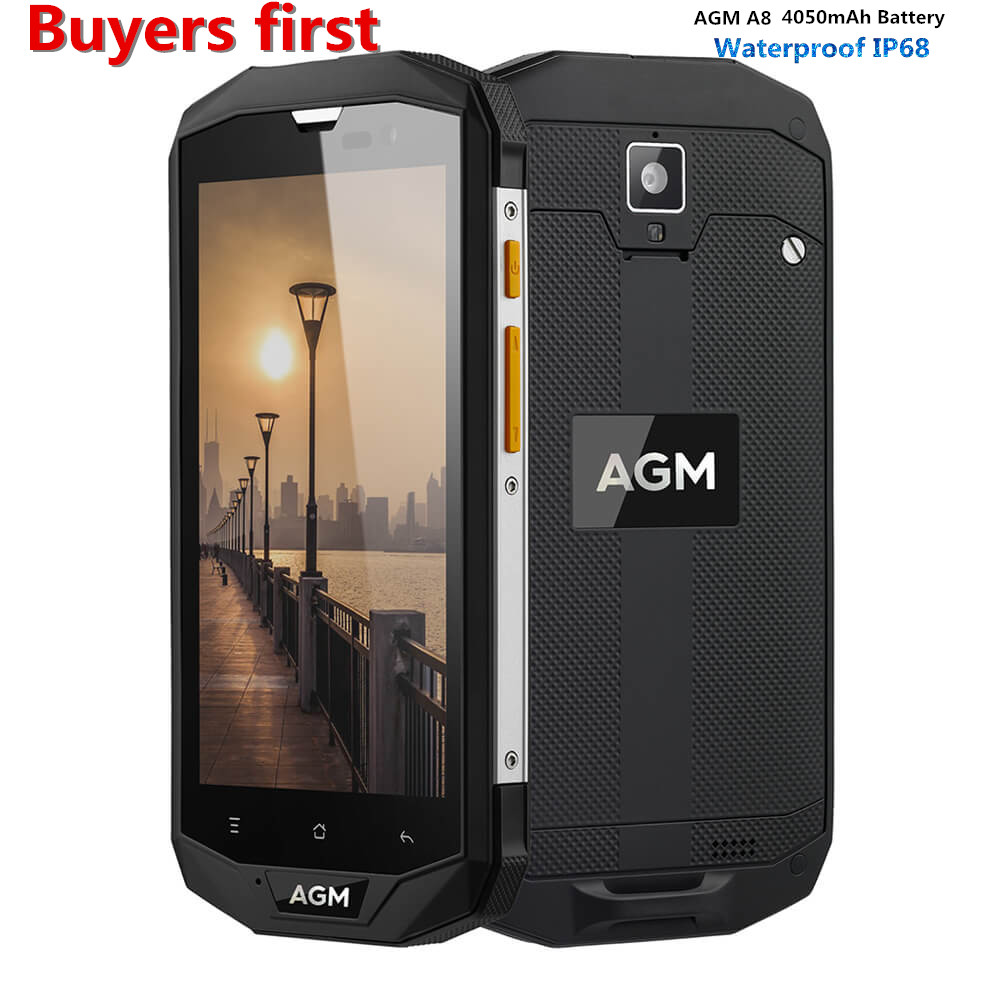 Original AGM A8 5 0 Inch Qualcomm MSM8916 Quad Core IP68 Waterproof Android 5 1 4G
