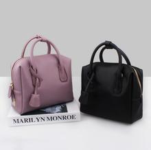 2016Retro women messenger bags handbag Doctor bag Fashion brand Shoulder women genuine leather handbags orange bag free shipping