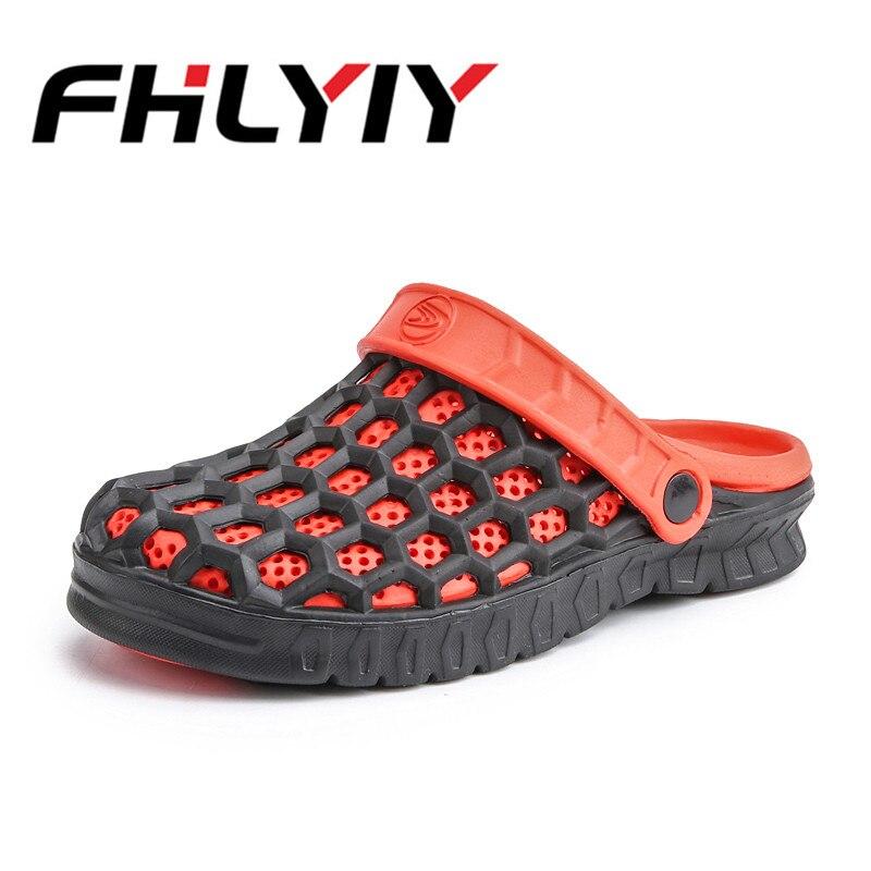 2018 Summer Mens Slide Sandals Casual Soft Non Slip Sandal For Men Mens Lightly Slipper Mule Flat Breathable Hollow Sandals