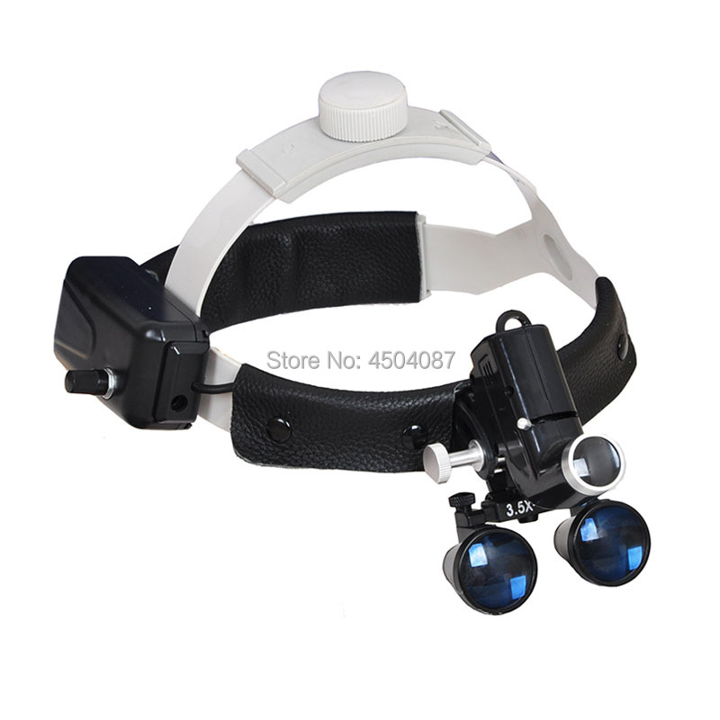High Brightness Wireless 5W LEDMedical Headlamp with 3 5X Medical Magnifier Loupes Medical Surgery Dental Headlight Loupes Set in Magnifiers from Tools