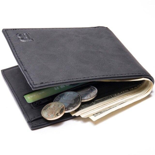 ea4f75aaa7 Con Sacchetto Della Moneta della chiusura lampo dei nuovi uomini portafogli  portafoglio uomo piccolo borse di. Posiziona il mouse sopra per ingrandire