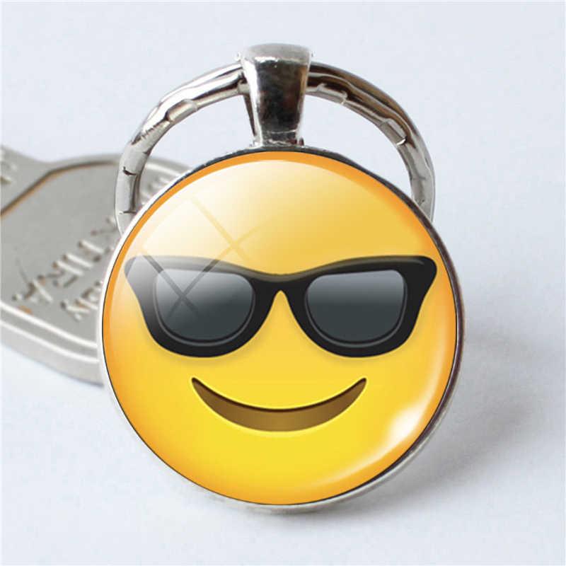 Topkeeping бренд для женщин новые модные ювелирные изделия Emoji выражение лица милый брелок для ключей улыбка лицо кольца для ключей сумка брелок для ключей