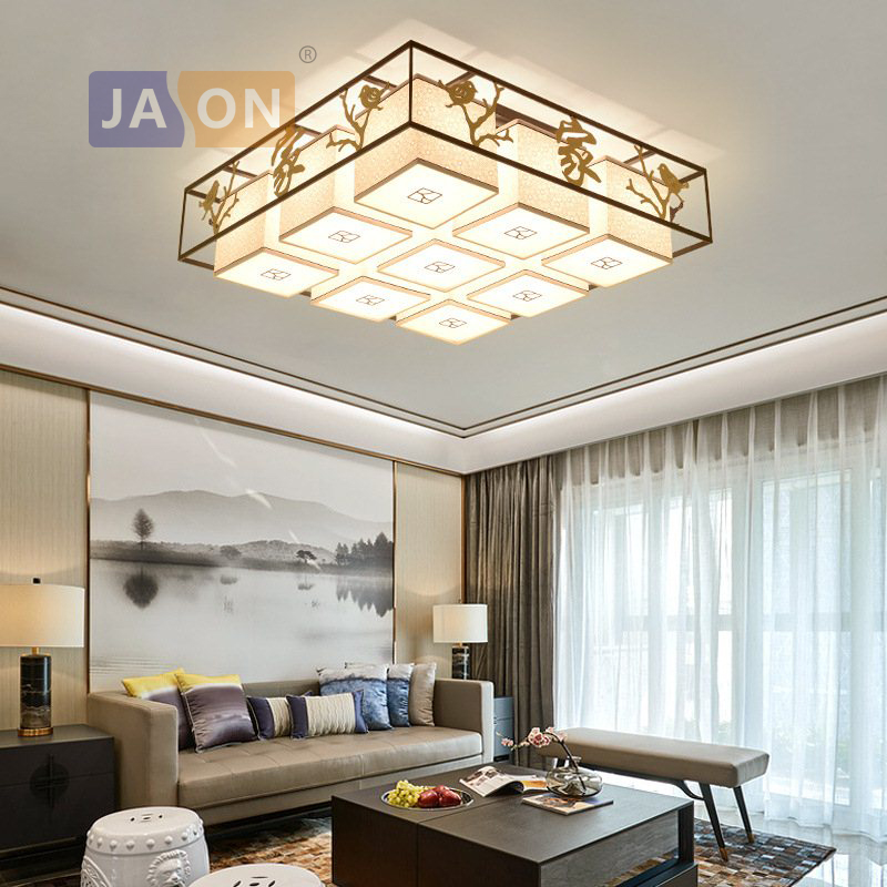 LED E27 Chinese Iron Fabric Round Square Chandelier Chandelier Lighting Lamparas De Techo For Dinning Room FoyerLED E27 Chinese Iron Fabric Round Square Chandelier Chandelier Lighting Lamparas De Techo For Dinning Room Foyer