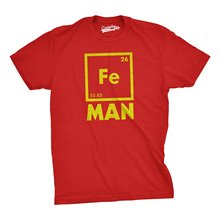 2017 fashion casual trend men t shirt Iron Science T Shirt Funny Chemistry Shirt Fe Periodic Table Tee