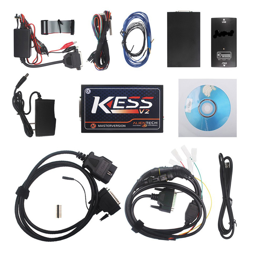DHL Free V2.35 KESS V2 Firmware V3.099 OBD2 ECU Tuning Kit No Token Limitation KESS V2 Master With Multi-language 2017 online ktag v7 020 kess v2 v5 017 v2 23 no token limit k tag 7 020 7020 chip tuning kess 5 017 k tag ecu programming tool